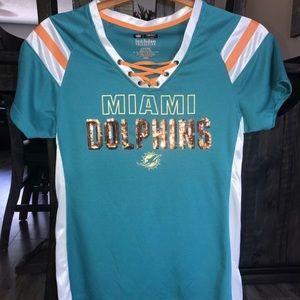 Miami Dolphins Ladies Shirt M